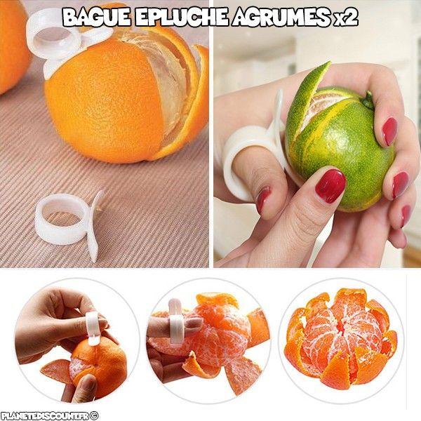Bague épluche fruits - agrumes x2