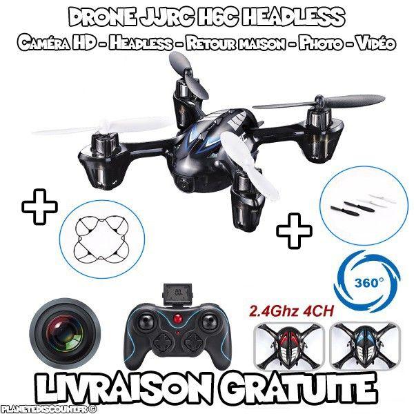 Drone JJRC H6C, 4CH, 2.4GHz avec caméra HD