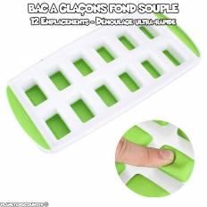 Bac à glaçon avec fond souple silicone rectangle