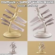 Set 5 couteaux + porte couteaux Vaudou Deluxe édition