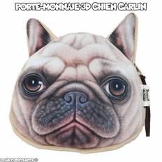 Porte-monnaie 3D - chien carlin