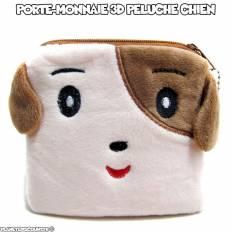 Porte-monnaie peluche 3D - chien