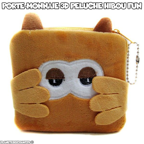 Porte-monnaie peluche hibou cartoon