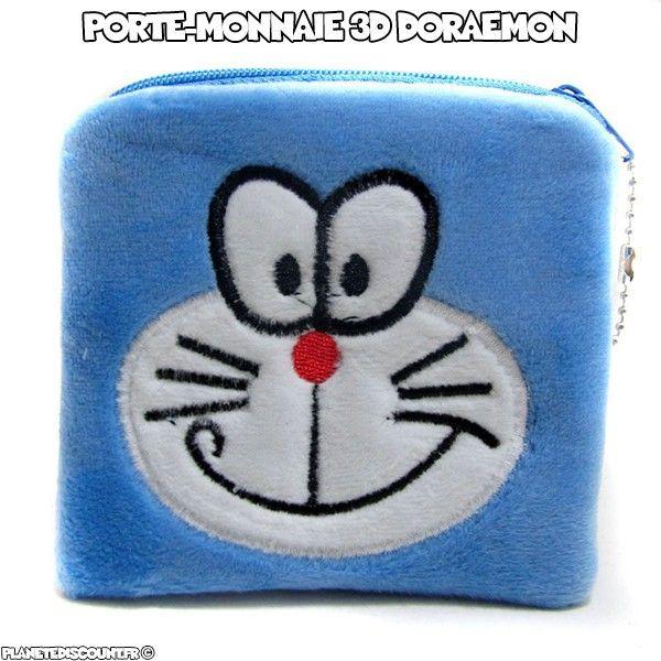 Porte-monnaie peluche 3D - Doraemon