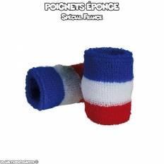 Lot de 2 poignets éponge de sport France