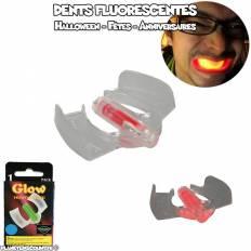 Dents fluorescentes pour la fêtes