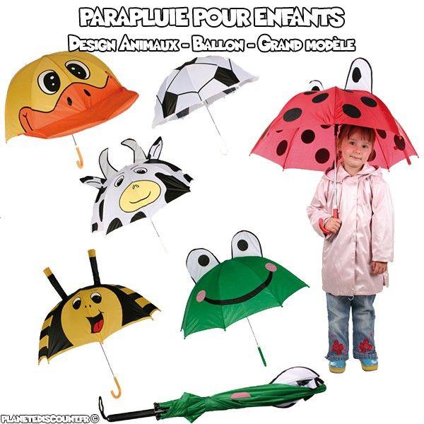 Parapluie pour enfant en forme d'animaux et ballon