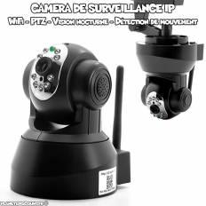 Caméra de surveillance IP Wifi motorisée, vision nocturne