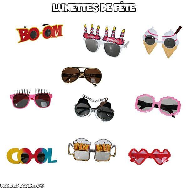 Lunettes de fête - Achat   Vente Lunettes fantaisie de soirée pas cher 511f52c9d456