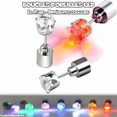 Boucles d'oreilles lumineuses LED