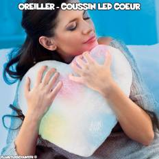 Coussin lumineux LED - Coeur