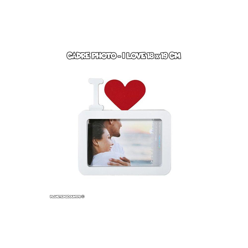 cadre photo achat vente cadre photo i love blanc pas cher. Black Bedroom Furniture Sets. Home Design Ideas