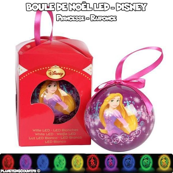Boule de Noël LED Disney - Princesse