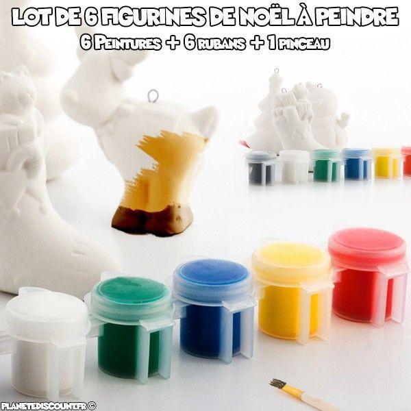 Lot de 6 figurines de Noël à peindre