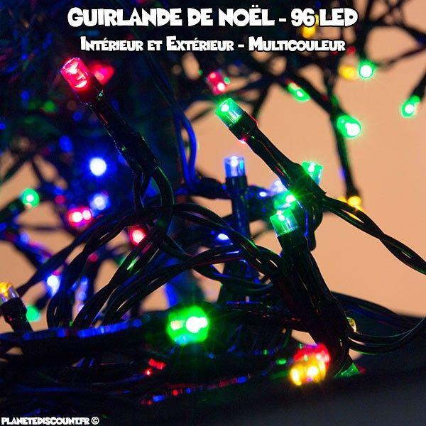 Guirlande de noël multicouleur - 96 LED