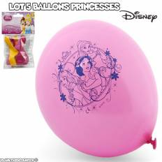 Lot de 5 ballons Disney - Princesses