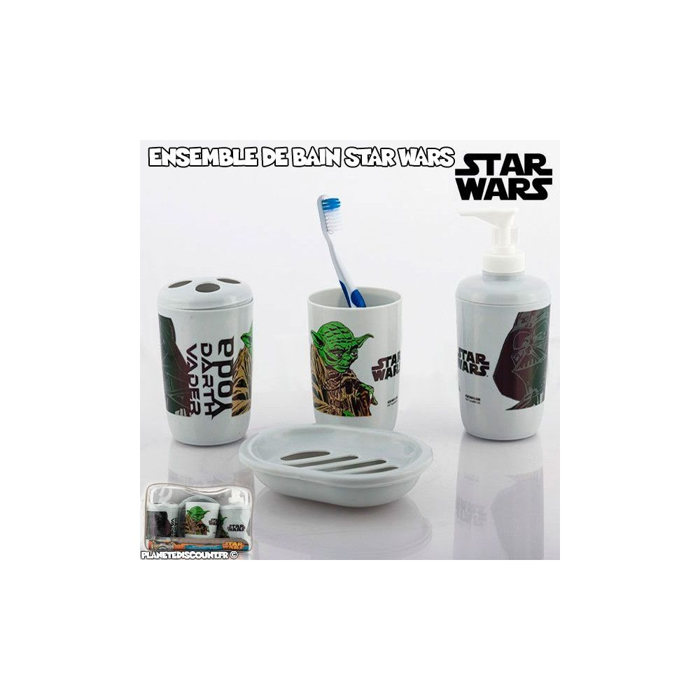 Set de bain star wars ensemble de salle de bain star for Set de salle de bain