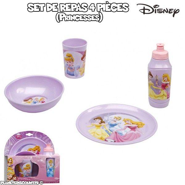 Set vaisselles de 4 pièces Princesses - Disney