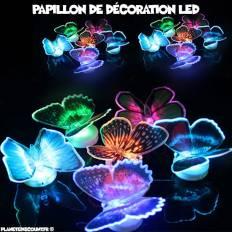 Papillon de décoration lumineux LED