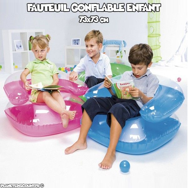 fauteuil gonflable enfant achat fauteuil enfant gonflable pas cher. Black Bedroom Furniture Sets. Home Design Ideas