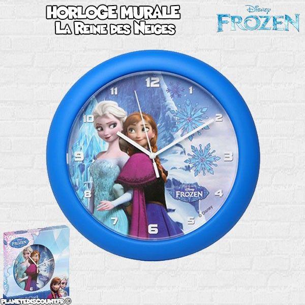 Horloge Murale Frozen de 25 cm - Disney (La reine des neiges)