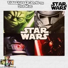 Tableau avec LED 30x40 cm - Star Wars - modèle 1