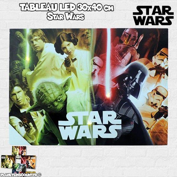 Tableau avec LED 30x40 cm - Star Wars - modèle 2