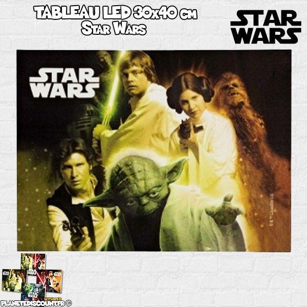 Tableau avec LED 30x40 cm - Star Wars - modèle 3