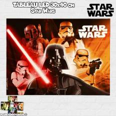 Tableau avec LED 30x40 cm - Star Wars - modèle 4