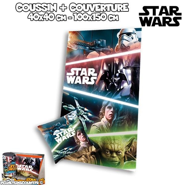 Star Wars - Ensemble oreiller + couverture polaire