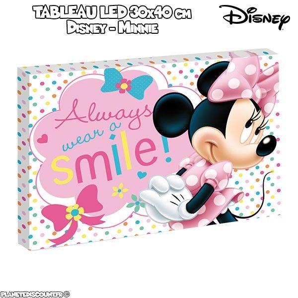 Tableau avec LED 30x40 cm - Disney Minnie