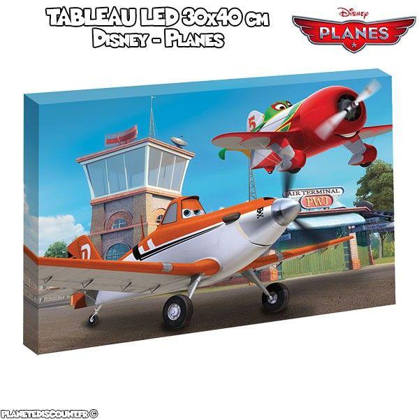 Tableau avec LED 30x40 cm - Disney Planes