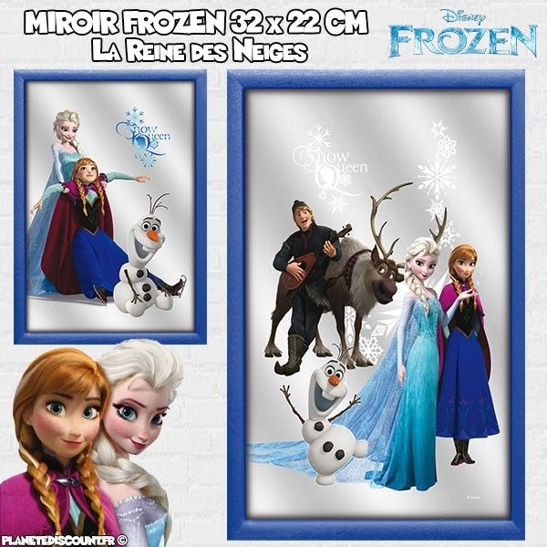 Miroir la Reine des Neiges 32x22 cm - Disney