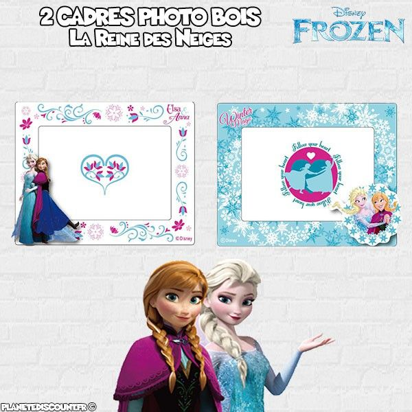 Cadres photo la reine des neiges lot de 2 cadres photo frozen - Photo de la reine des neige ...