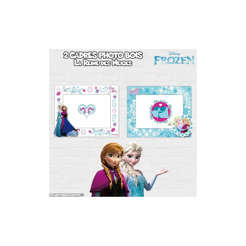 cadres photo la reine des neiges lot de 2 cadres photo frozen. Black Bedroom Furniture Sets. Home Design Ideas