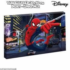 Tableau avec LED - Disney Spider-man - 30 x 40 cm