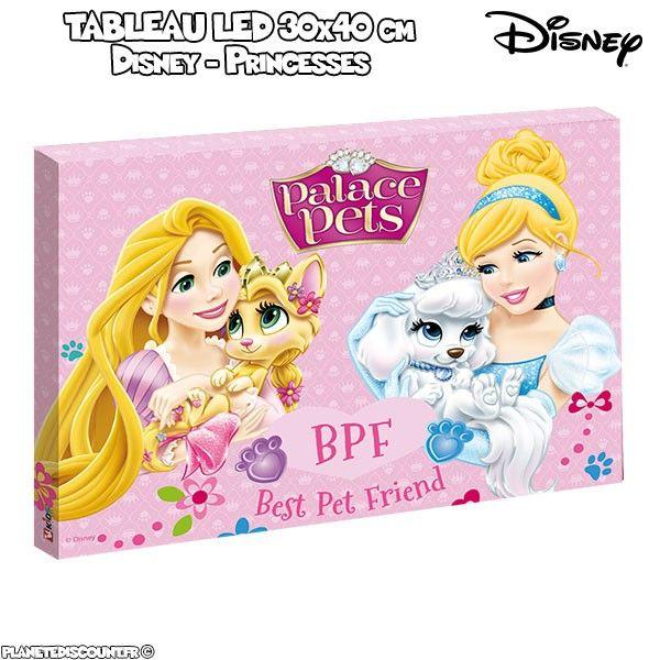 Tableau avec LED - Disney Princesses - 30 x 40 cm