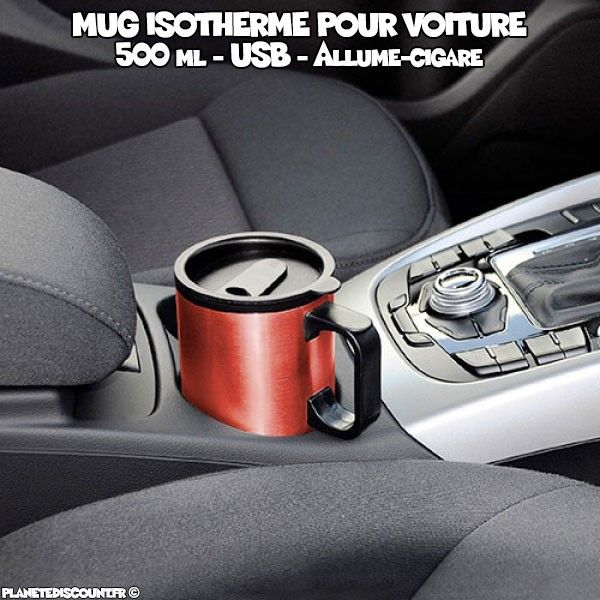 Mug isotherme pour voiture 500 ml