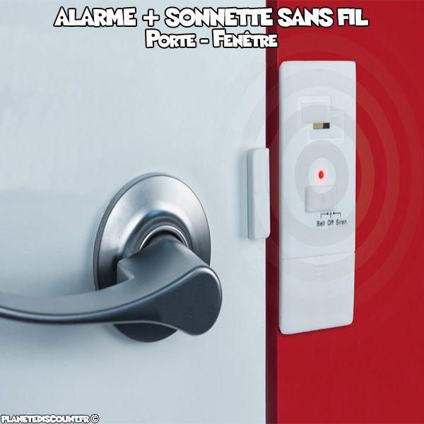 Alarme aimantée de sécurité pour porte et fenêtre