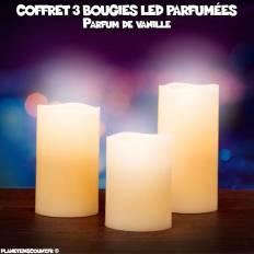 Coffret de 3 bougies LED parfumées