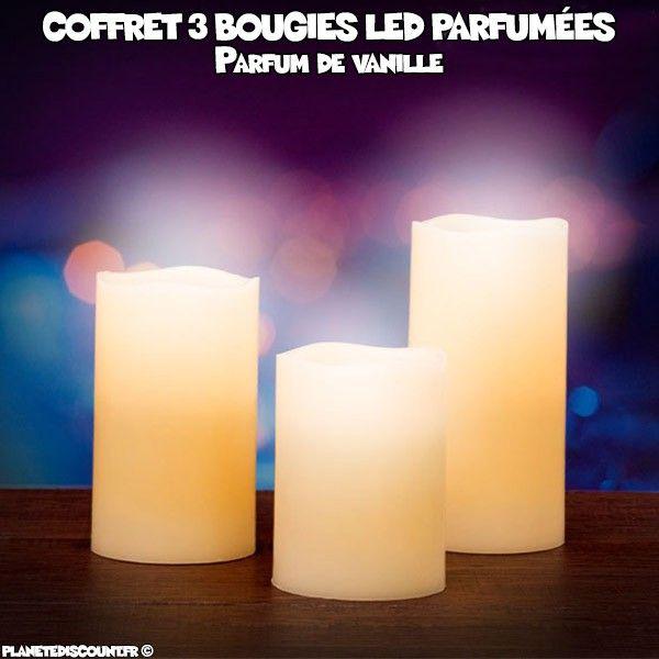 Coffret de 3 bougies led parfum es pack de 3 bougies led - Bougie led action ...