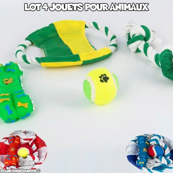 Lot de 4 jouets pour animaux