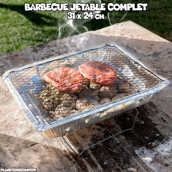 Barbecue jetable complet - 31x24 cm