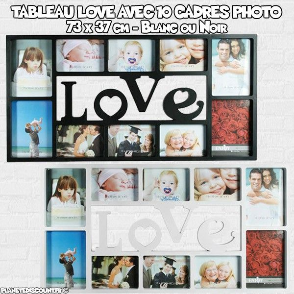 tableau 10 cadres photo tableau love avec 10 cadres photo pas cher. Black Bedroom Furniture Sets. Home Design Ideas
