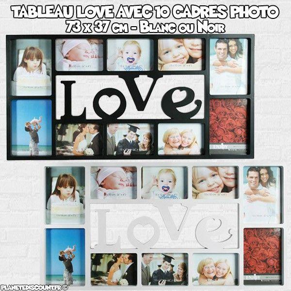 Tableau Love avec 10 cadres photo