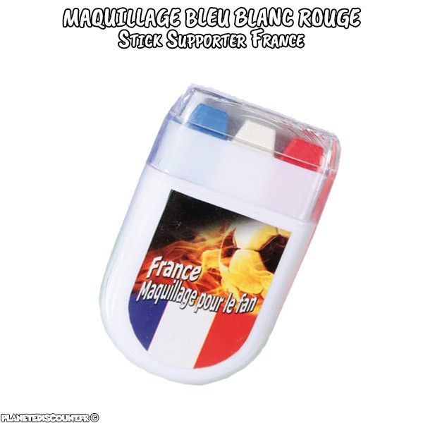 Maquillage Supporters France - stick Bleu Blanc Rouge