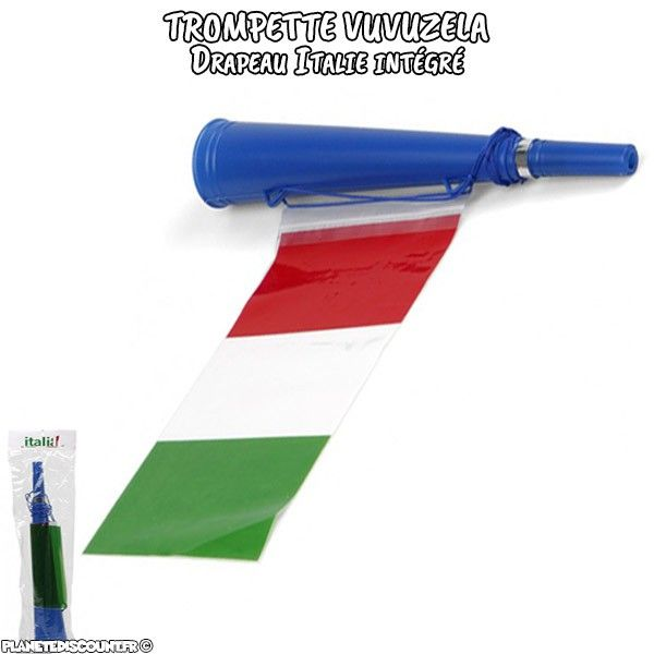 Vuvuzela Trompette avec drapeau - ITALIE