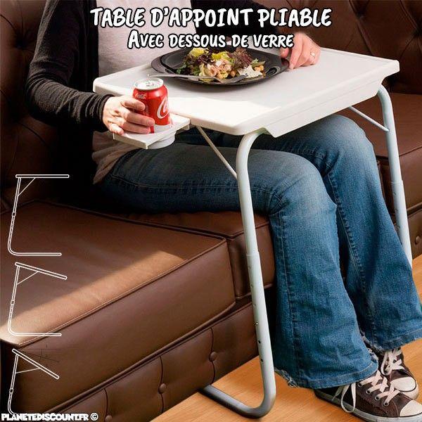 Table Pliable Multifonction Achat Table D 39 Appoint Pliante Pas Cher