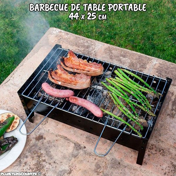 Barbecue de table portable - 44x25 cm