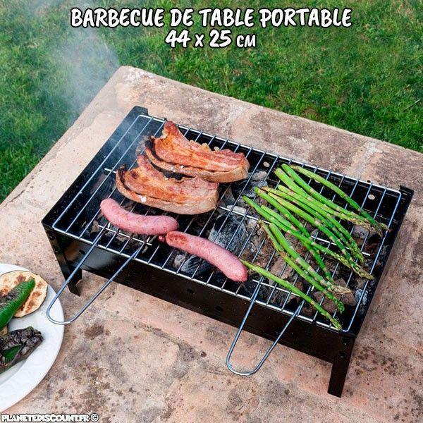 Barbecue de table portable - 44x25 cm